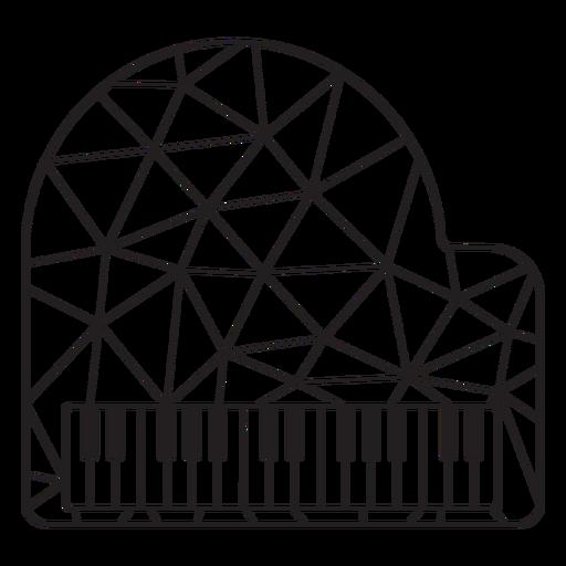 Piano de trazo de piano de baja poli