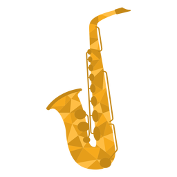 Low poly saxophone colored