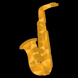 Saxofone baixo poli colorido
