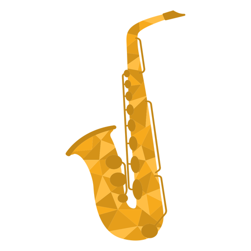 Low poly saxophone colored Transparent PNG