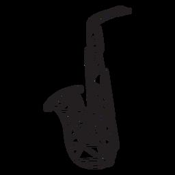 Golpe de saxofón de baja poli