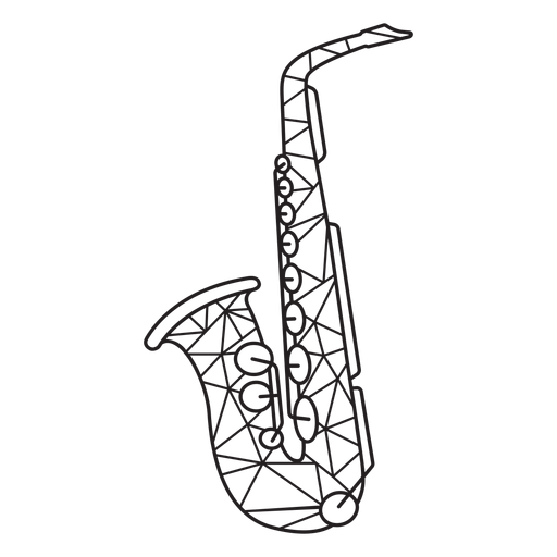 Low poly saxophone stroke