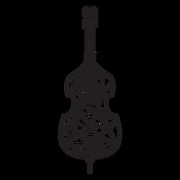 Violino baixo poli traço