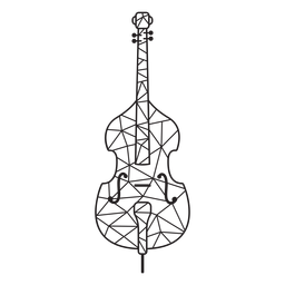 Violino de baixo poli acidente vascular cerebral