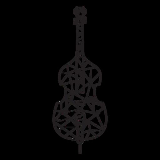Low poly stroke violin
