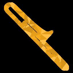 Baixo poli trombone colorido