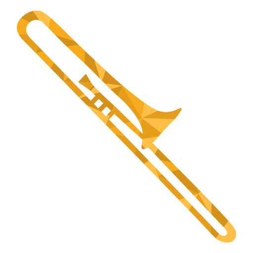 Low poly trombone colored