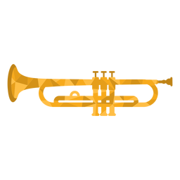 Low poly trumpet colored