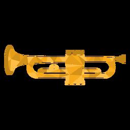 Trompete baixo poli colorido