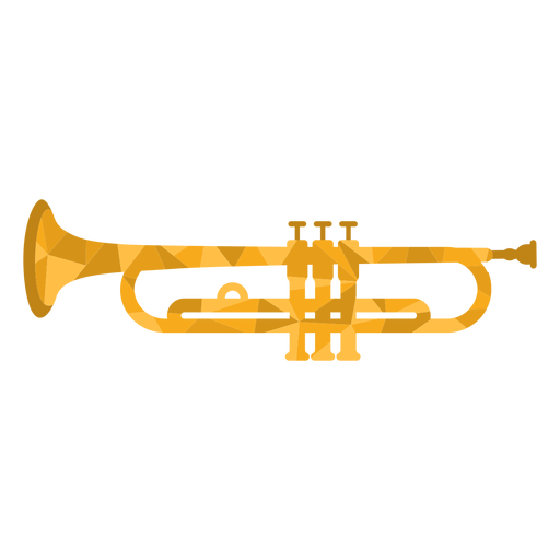 Low poly trumpet colored Transparent PNG