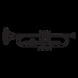 Golpe de trompeta de baja poli