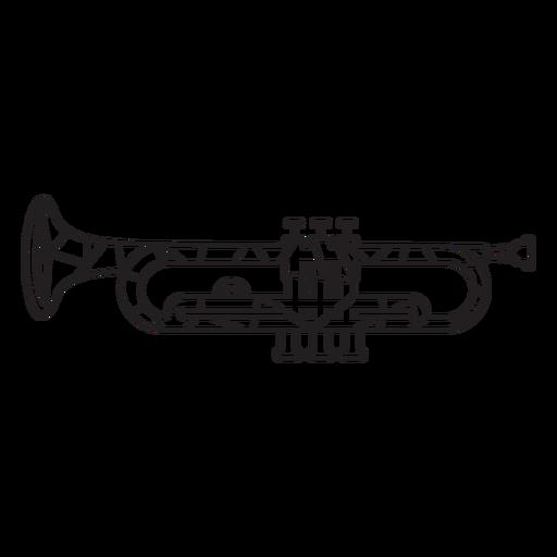 Low poly trumpet stroke Transparent PNG