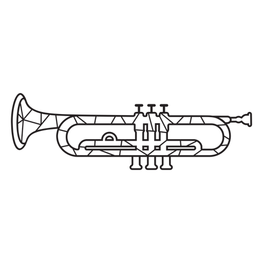 Low poly trumpet stroke