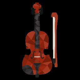 Violino de baixo poli colorido