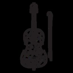 Bajo trazo de poli violín
