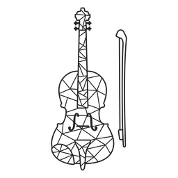 Low poly violin stroke