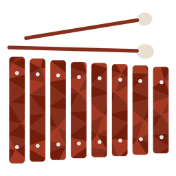 Low poly xylophone colored