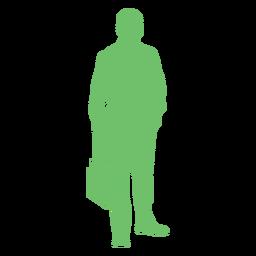 Silueta de bolso de hombre con gafas