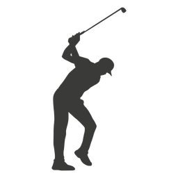 Mann Golfspieler Silhouette