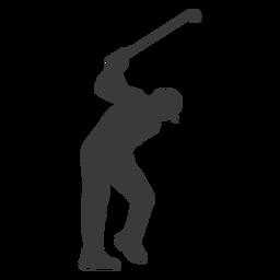 Silhueta de jogador de golfe de homem