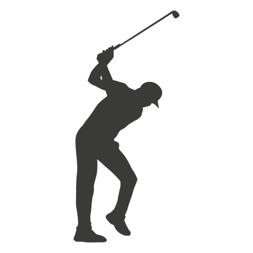Man golf player silhouette