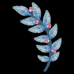 Bonitas hojas de bayas acuarelas