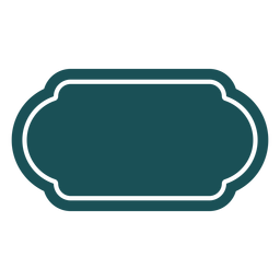 Etiqueta rectangular rectangular
