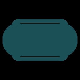 Rótulo retângulo oblongo