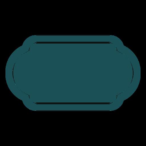 Oblong rectangle label