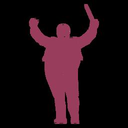 Orchesterleiter Silhouette