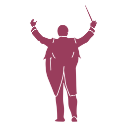 Orchestra conductor silhouette