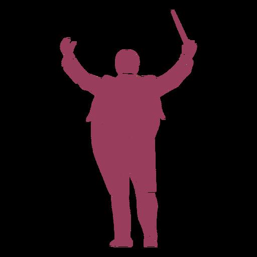 Silueta de director de orquesta Transparent PNG