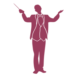 Orchestra conductor standing silhouette