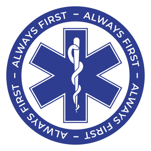 Paramedic always first badge Transparent PNG