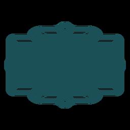 Etiqueta de rectángulo estampado
