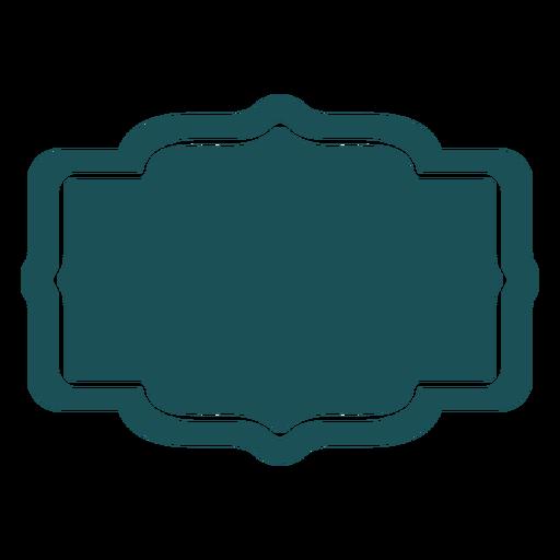 Etiqueta rectangular estampada