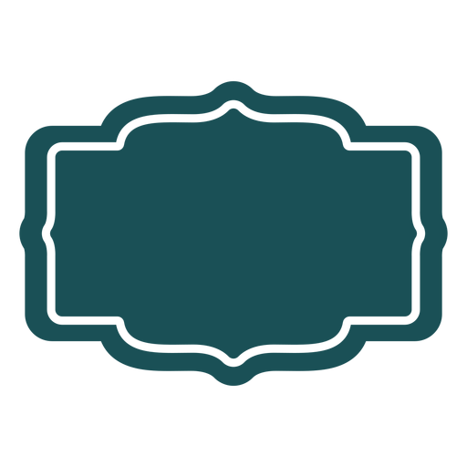 Patterned rectangle label Transparent PNG