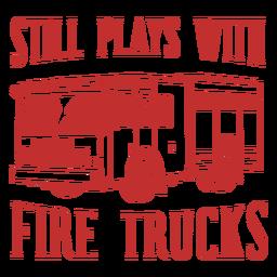 Reproduce camiones de bomberos bombero