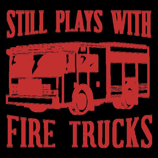 Plays firetrucks firefighter