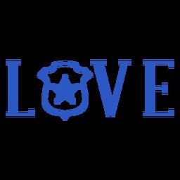 Insignia de amor de la policía