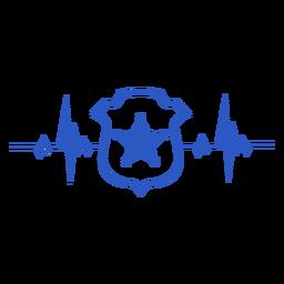 Estrela da polícia salva-vidas