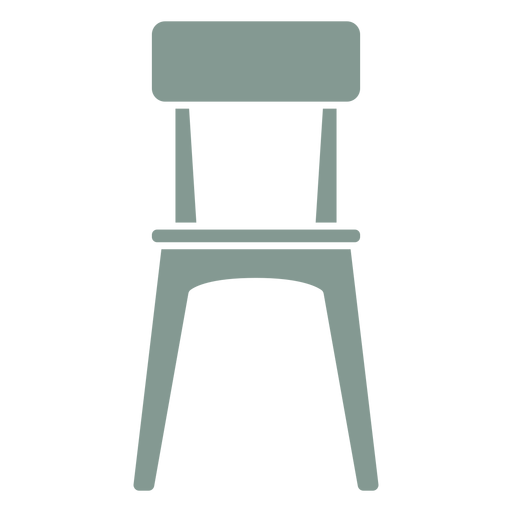 Pretty chair silhouette Transparent PNG