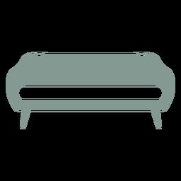 Bonita silueta de muebles de sofá