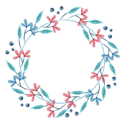 Pretty watercolor wreath