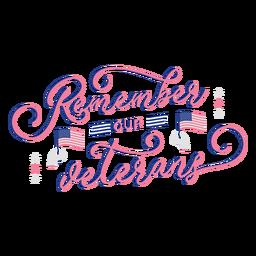 Recuerda las letras de los veteranos
