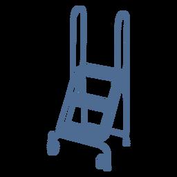 Short ladder wheels silhouette