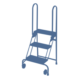 Silueta de ruedas de escalera corta