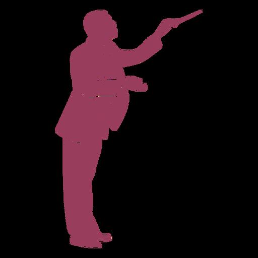 Vista lateral del conductor de orquesta silueta