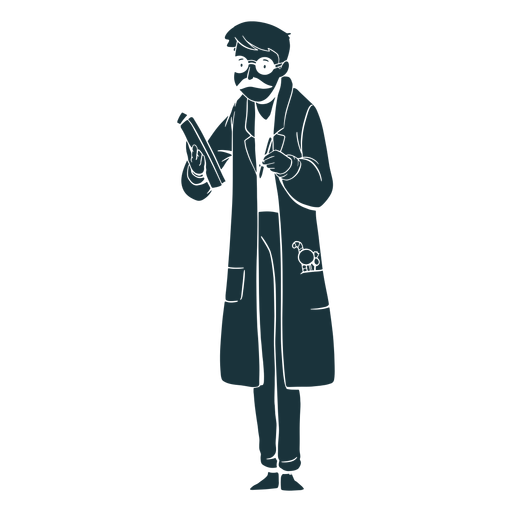 Silhouette doctor candies on pocket Transparent PNG