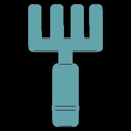 Forquilha simples de jardinagem de silhueta